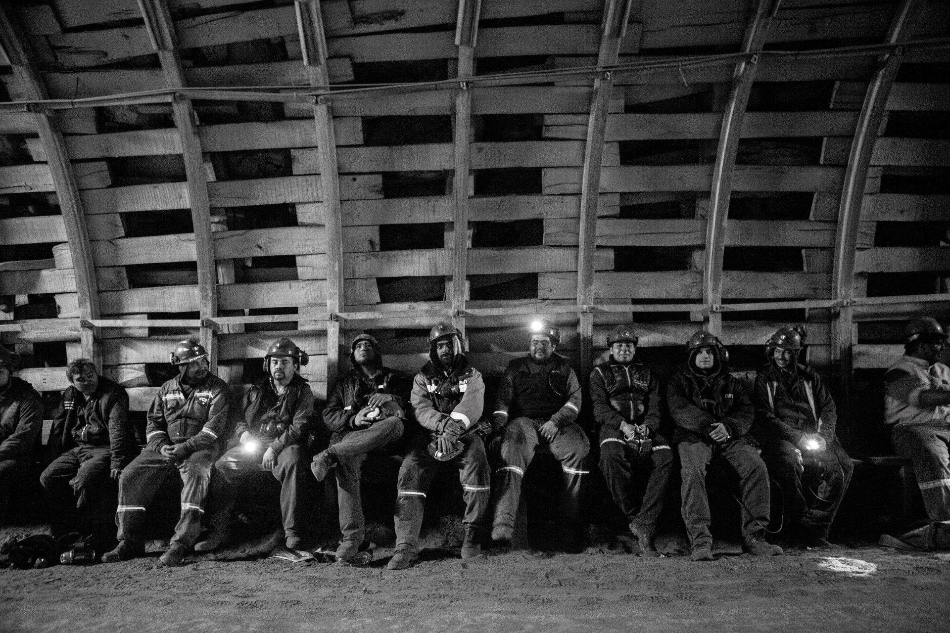 Trabajadores de la mina de Río Turbio. Foto: Viojf